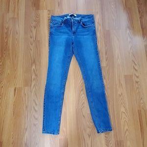 Zara hi-rise denim skinny jeans size 8
